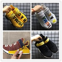 Wholesale running shoes size 47 - Big Size 36-47 New 2018 HUMAN RACE Trail x Pharrell Williams mens womens Running shoes ultra sport Sneakers
