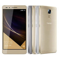 Wholesale huawei dual android phones resale online - Refurbished Original Huawei Honor Kirin Octa Core inch GB RAM GB ROM MP Camera LTE G Dual SIM Android Cell Phone DHL