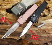 Wholesale mini push - wholesale HALO Mini Microtech Combat Troodon automatic knife strong spring good tactical hunting hiking camping gift push knife