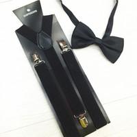 Wholesale mens adjustable black bowtie resale online - Mantieqingway Suspenders Bow Ties Set Braces Bowtie Y back Adjustable Clip on Suspender Mens Belts Strap Bretelles Hommes