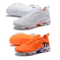 Wholesale hiking camping packs for sale - 2018 TN Plus Men Running Shoes Olive In Metallic Male Orange White Sport Shock Sneakers Mens Women Pack Triple Sneaker