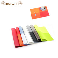 Wholesale Green Kitchen Table - DINIWELL Home Table Decoration Accessories Heat-insulated Tableware PVC Chic Placemat Kitchen Dinning Bowl waterproof Pad Mat