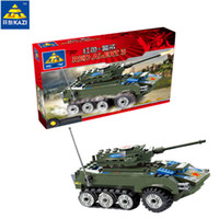 Wholesale kazi toys - KAZI Military Series Building Blocks Armored vehicles Model Brick RED ALERT Set of 150 pcs Educational Toy For Boy Child Gift