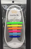 pacotes de silicone venda por atacado-V-Tie Design Criativo Unisex Moda Athletic Correndo Nenhum Laço de Sapato Laço Elástico Preguiçoso Cadarços de Silicone Todas As Sapatilhas para Crianças (12 pcs) OPP pacote