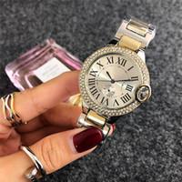 relógio digital mulher ouro venda por atacado-2019 marca de moda lady full diamond watch relógio de pulso de ouro das senhoras vestido de prata relógio de quartzo pulseira de luxo relógios de grife para as mulheres topos