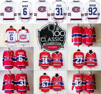 Wholesale Max Prices - 100th Classic Montreal Canadiens Carey Price Jersey Max Pacioretty Shea Weber Andrew Shaw Brendan Gallagher Jonathan Drouin White Red