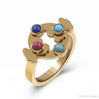 Wholesale Circle Paving - stainless steel bear and circle ring Spanish brand jewelry ring for woman PCR2046