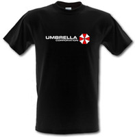jugadores de camisetas al por mayor-UMBRELLA CORPORATION Resident Evil Inspired Gamer Heavy Cotton camiseta S-XXL personalizada Camiseta estampada ecológica Hip Hop divertida