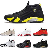 Wholesale size 14 flat shoes women - Authentic High Quality 14s Basketball Shoes 14 Red Yellow Black White Men Women XIV Sports Shoes Sneakers US Size 5.5-13 Free Shipping