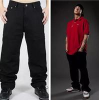 ingrosso jeans allentati di hip hop hip hop-Jeans hip-hop adatti dei jeans di Skateboarder di Hiphop dei jeans di nuovo di modo degli uomini dei jeans di Hip Hop il trasporto libero