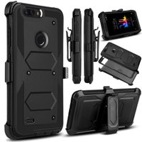 Wholesale case hard grand - 3 in 1 Belt Clip Stand Armor Heavy Shockproof Armor Hybrid Hard Case Cover For ZTE Z981 Z982 Z831 N9131 N9137 Grand X4 Z956 Blade Max 3 986
