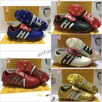 Wholesale leather indoor soccer shoes - 2017 Wholesale Predator Mania ACE 17+ Purecontrol Champagne FG Soccer Boots Football Boots White Core Mens Soccer Cleats Shoes size 39-45