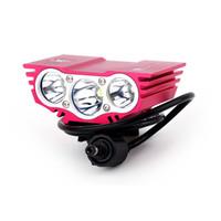ingrosso biciclette in alluminio leggero-6000 Lumen 3 x CREE XM-L U2 T6 LED Luce bici Bicicletta Luce anteriore LED Lampada frontale Lampada frontale Lega di alluminio impermeabile