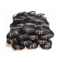 ingrosso onda corpo brasiliano 26 pz-Commercio all'ingrosso a buon mercato brasiliani dell'onda del corpo dei fasci di capelli umani tesse 1 kg 20 pezzi sacco nero naturale colore 5a grado di qualità 50 g / pz