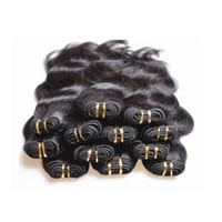 12 pc brazilian saç toptan satış-Toptan ucuz Brezilyalı vücut dalga İnsan saç demetleri örgüleri 1 kg 20 adetgrup doğal siyah renk 5a sınıf kalite 50 g / adet