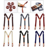 Wholesale white clothes clip resale online - New Braces Men Suspenders For Women Jeans Pants Trouser With Clip On Braces Elastic Suspenders Black White Clothing Accessories