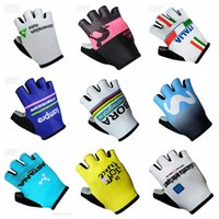 Wholesale cycling gloves tour - TOUR DE ITALY LAMPRE team Cycling Gloves Top Quality Half Finger GEL Pad Bicycle Gloves Non-slip D2112