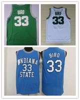 Wholesale bird shirt mens - NCAA Wholesale 2017 Dwayne Mens College Cheap Basketball Jerseys #33 Larry Bird Jersey Bird Retro Stitched Basketball Shirt