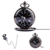erkekler için siyah cep saatler toptan satış-Yeni Siyah Kolye Numarası Minimalizm Kuvars Pocket saat Kolye Man Ve Kadınlar Moda Aksesuarları Sıcak Satış 12 5hy Ww
