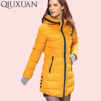 0a100ecd2c1 Warm Winter Jackets Women Fashion Down Cotton Parkas Casual Hooded Long Coat  Thickening Zipper Slim Fit Plus Size Long Parka S18101204