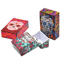 Wholesale fast screen printing - Promotion! Ghost Cigarette Case Skull Head Tobacco Storage Case Pocket Box,Protect Your Cigarette and other Rolls Fast Shipping