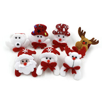 Wholesale cloth stuffed dogs resale online - Moose Christmas Decorations Hand Ring Patting Circle Christmas Children Gift Santa Claus Snowman Deer New Year Holiday Decorations Toys