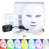 лицевые устройства оптовых-Красота здоровья 7 цветов света светодиодные Фотон PDT маска для лица Уход за кожей лица Омоложение терапия портативный домашнего использования