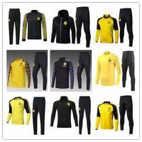 la galaxy shorts großhandel-2017 2018 2019 Borussia Dortmund Fußballjacke Trainingsanzug 18 19 Survêtement REUS PULISIC M.GOTZE Dott Sportbekleidung Fußball Kapuzenjacke Kits