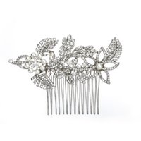 ingrosso accessorio di gioielli per capelli-Accessori da sposa per matrimonio Gioielli in argento per capelli con strass in cristallo per capelli Gioielli per capelli da donna damigella d'onore JCH031