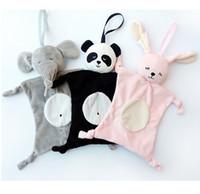 ingrosso modello del fumetto del bambino-Asciugamano da 28 centimetri Asciugamano Giocattolo per bambini INS Esplosione Modelli Bavaglini Può masticare Giocattolo Baby Doll Panda / Coniglio / Elefante / scimmia Giocattolo per bambini 4 stili C4337