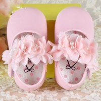 a7b2688eb7dbf Christening soft cack baby girl flower prewalker shoes fit 3-24 months kids  baby girls princess shoes