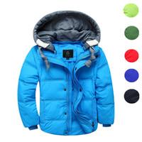 erkek ceketleri toptan satış-Boys Kış Ceketler Çıkarılabilir Çocuklar Sıcak Aşağı Parkas Yelek çocuk Kapşonlu Palto Kalın Dış Giyim