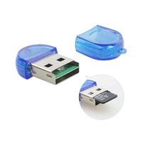ingrosso lettori di schede-Usb 2.0 Micro Sd TF T-Flash Mini lettore di schede Adattatore per PC Mac Laptop Microsd Memory Card ad alta velocità 480 Mbps spedizione gratuita di alta qualità