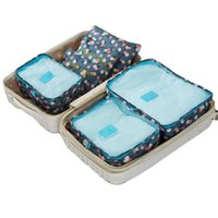Wholesale cloth cubes - 6PCS Set High quality Oxford cloth travel mesh bag in bag luggage organizer packing cube organiser for clothing