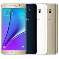 Wholesale galaxy octa core - Refurbished Original Samsung Galaxy Note 5 N9200 N920A N920V N920T N920P 5.7 inch Octa Core 4GB RAM 32GB ROM 16MP 4G LTE Phone DHL 1pcs