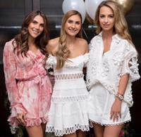 ingrosso perline per abiti-Pantaloncini estivi da donna 2 pezzi Abito ricamato perline Camicia bianca vuota Set Designer Runway Alta qualità 2018 Moda