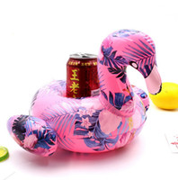 Wholesale cute parrot - stylish cute inflatable whale mermaid parrot flamingo mini geometric floating swimming pool surfing summer beverage coasters free shipping