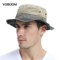 4003d860af8 VOBOOM Men s Bob Summer Panama Bucket Hats Outdoor Fishing Wide Brim Hat UV  Protection Cap Men Sombrero Gorro Sun for Male 139