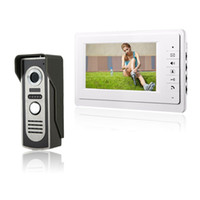 kit de color ir al por mayor-HD 7`` TFT Video en color teléfono de la puerta Intercom Timbre de la puerta Kit IR Cámara Doorphone Monitor Altavoz Intercomunicador