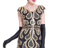 ingrosso perle faux lunghe perline-Collana vintage in finta perla lunga 150 cm Art Déco perline Flapper Gatsby Dress Accessori donna per Party 20s Costume