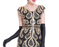 ingrosso costumi art deco-Collana vintage in finta perla lunga 150 cm Art Déco perline Flapper Gatsby Dress Accessori donna per Party 20s Costume