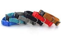 nylon haustier hundehalsband großhandel-Hochwertiger einfarbiger Polyesterkragen, Nylonhalskette, Hundehalskette, kleine und mittlere Hundeartikel L465