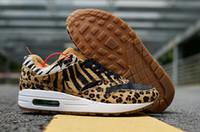 ingrosso scarpe da donna leopard rosse-2018 vendita calda 1 DLX ATMOS grano di leopardo giallo nero rosso scarpe da corsa per donne di alta qualità Mens scarpe da ginnastica 1 s scarpe da ginnastica sportive Size40-45