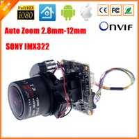 Wholesale hd ip camera 12mm - Auto-Zoom 3X Motorized Zoom LENs 2.8mm-12mm Full HD 1080P 1 2.9'' SONY CMOS IMX322 AR0130 IP Camera Module PCB Board + Cable