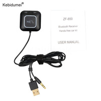 Wholesale Nfc Bluetooth Receiver - Kebidumei NFC Bluetooth Adapter 3.5mm Hands-free Call Bluetooth Car Kit Wireless Music Receiver Adapter for Smart Phones laptop