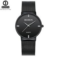женские часы для женщин оптовых-BIDEN Women Watches Mesh Stainless Steel Bracelet Watch Fashion Japanese Quartz Wristwatches Montre Femme  0047