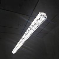 Wholesale hotels island - Modern L70cm Long Bar Island lights LED crystal Chandelier Dining room Kitchen Restaurant office hanging pendant lamp lighting fixtures