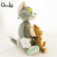 Wholesale boneca toys online - GonLeI set Baby Toys Cat Tom Jerry Mouse Plush Stuffed Toys Dolls Boneca Pelucia Brinquedos Learning Education Kids
