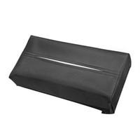 ingrosso rivestimento in pelle in scatola tovagliolo-1 Pz Accessori interni auto Contenitori Tovagliolo Contenitore Car Styling Tissue Box Custodia portatile in tessuto con rivestimento in pelle