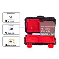 память на карте памяти оптовых-Держатель карты памяти чехол для 4 CF 8 SD-карты SDXC MSPD XD 12 TF T-Flash ящик для хранения Protector Case водонепроницаемый анти-шок